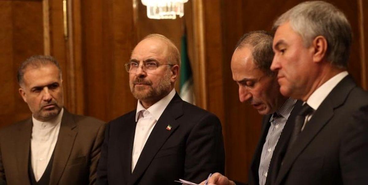 تاکید قالیباف بر طراحی ساختار جدید برای روابط اقتصادی تهران ـ مسکو