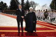 استقبال رسمی از رئیس جمهور آذربایجان