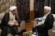 دیدار امام جمعه کیش و هاشمی رفسنجانی