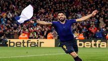 فوتبال جهان|برتری دیرهنگام در بازی بزرگ، بارسلونا را به قهرمانی در لالیگا نزدیکتر کرد