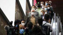 بازدید سرزده سخنگوی دولت از طرح استفاده اجباری ماسک در مترو تهران