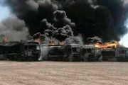 سوختن ۵ میلیون دلار کالا و ۵۰۰ کامیون در حادثه گمرک افغانستان
